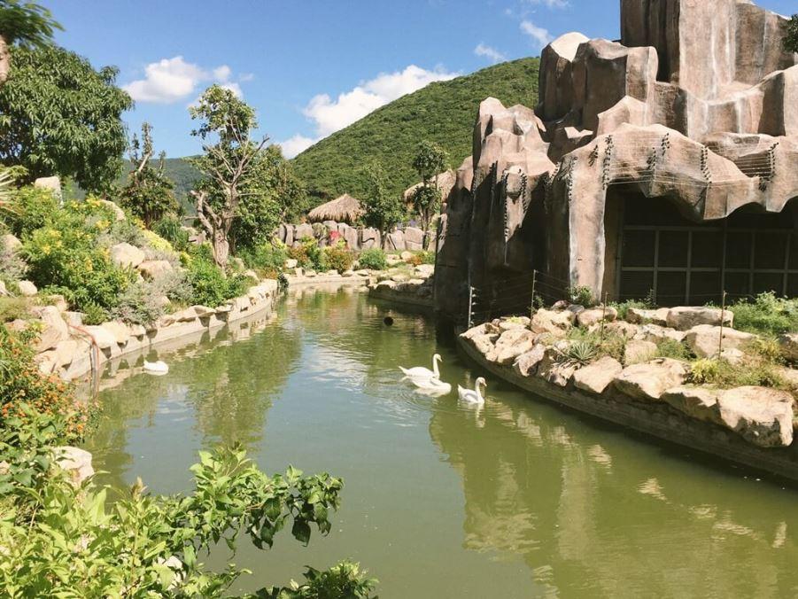 Лебеди в Vinpearl Land Вьетнам